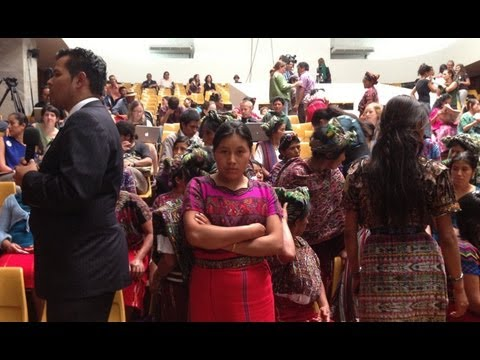 Guatemala: courtroom just after Ríos Montt genocide trial guilty verdict