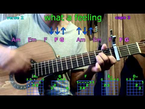 what a feeling one direction guitar chords