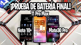 iPhone 11 Pro Max DESTRONA Mate 30 Pro Y Galaxy Note 10 PRUEBA DE BATERIA