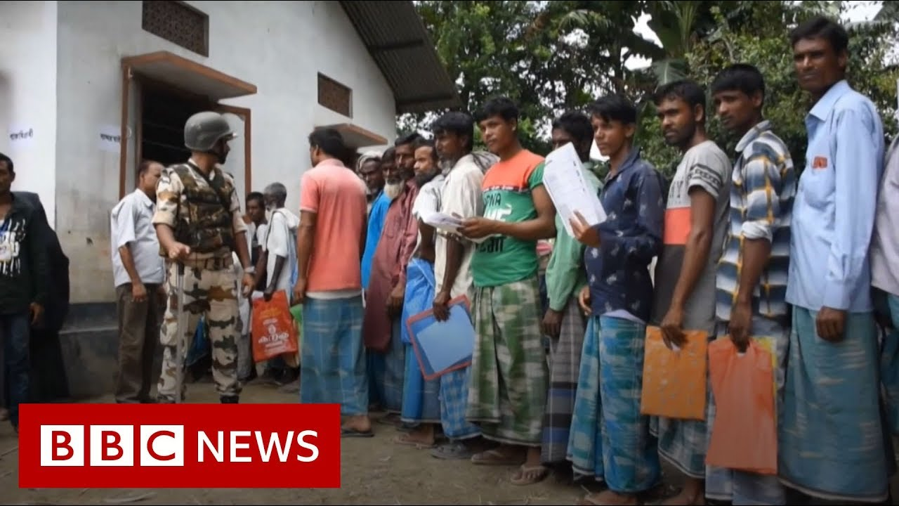 Assam NRC: People queue to check they are on list – BBC News
