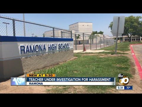 Ramona teacher under investigation for harassment