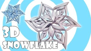 Diy: 3d Paper Snowflake Tutorial (kirigami / Origami)