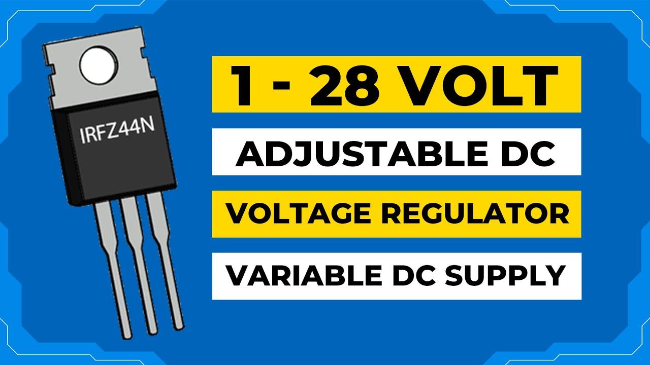 Very Easy Voltage Regulator #easy #regulator #irfz44