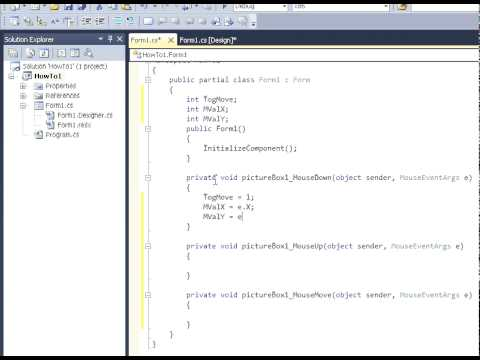 C# 2010 - How To Move Forms Without Border Style