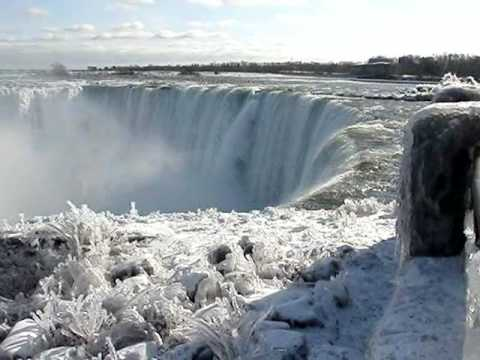 Fall Waterfall Wallpaper Hd Niagara Falls Canadian Horseshoe Falls Winter Rainbow