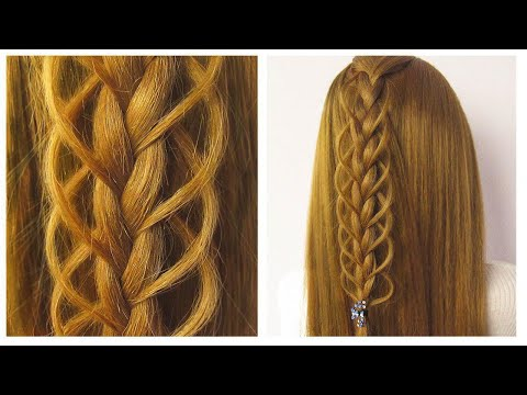 Cute And Easy Hairstyle | Braided Hairstyle | Coiffure pour tous les jours facile à faire thumbnail