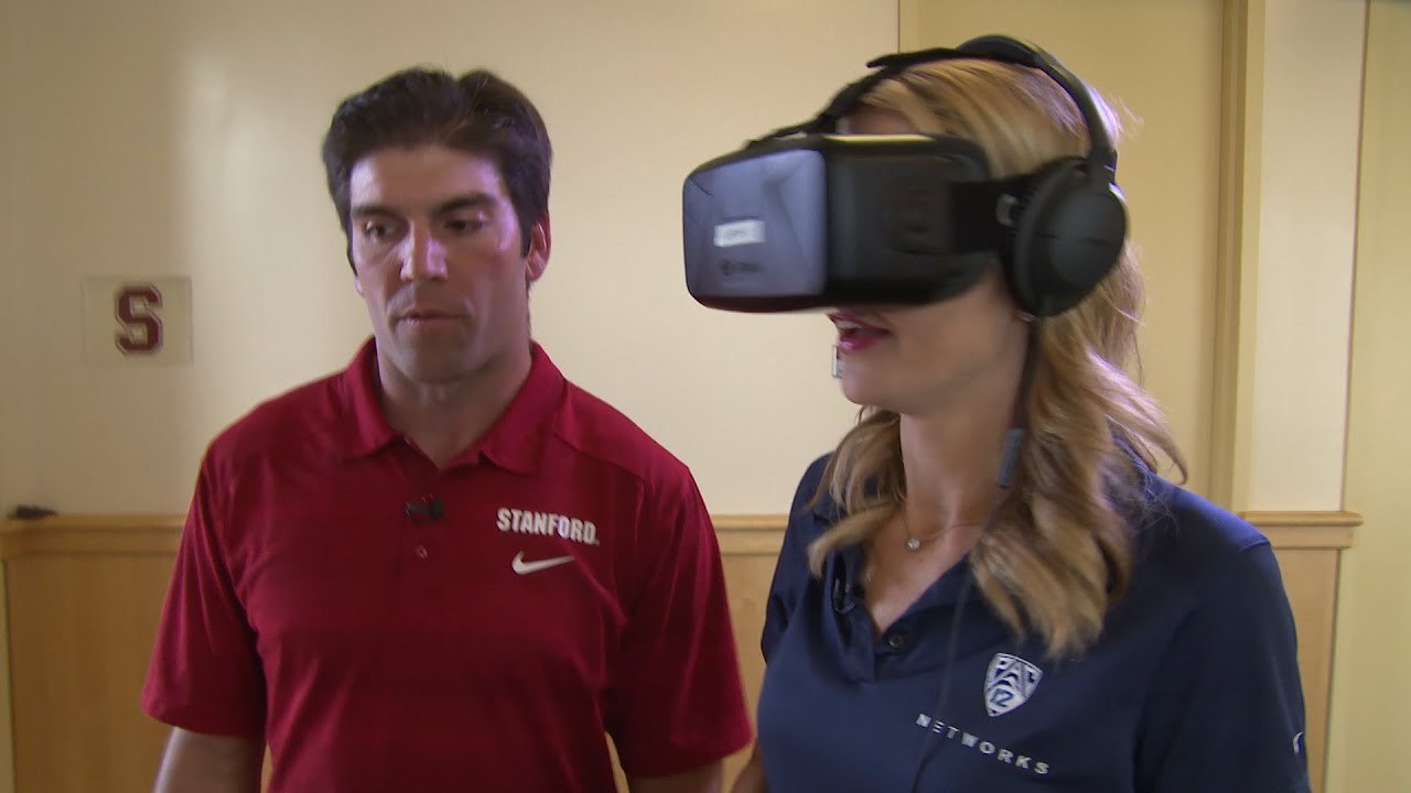Stanford football at the forefront of virtual reality quarterback training