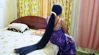South Indian Hairstyle for long hair / longesthair long, beautiful,longhair,loosebun,longhair