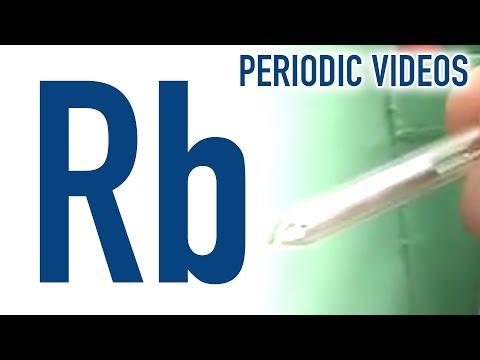 Video image: Rubidium – Periodic Table of Videos