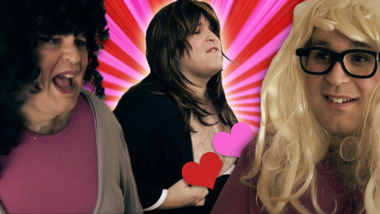 Hot brunette parody | Adult photo)
