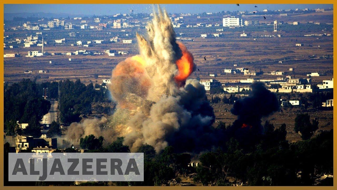 AlJazeera English:Idlib airstrikes target IDP camp