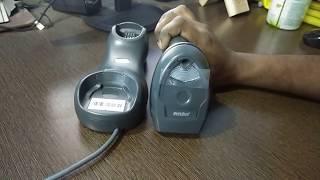 How to use Zebra Symbol Motorola LI4278 Wireless Barcode Scanner (Hindi)