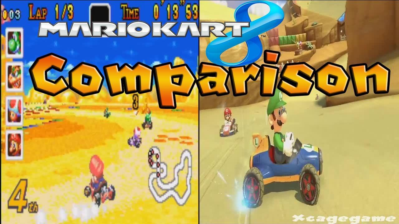 Mario Kart 8 Cheese Land Gba Head To Head Comparison Wii U Vs