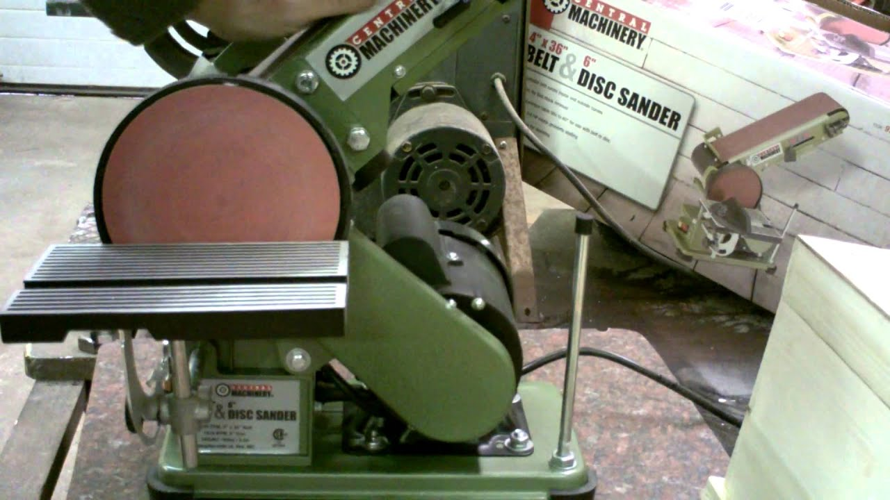 Harbor Freight 4in X 36in Belt Disc Sander Review Youtube