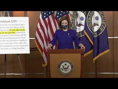 House Speaker Nancy Pelosi and Rep. Jamie Raskin hold a press con ...