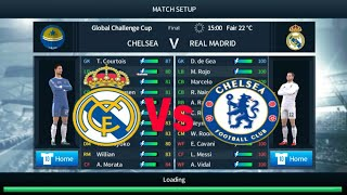 Chelsea vs Real Madrid | Global Challange Cup Final | Dream League Soccer 2018