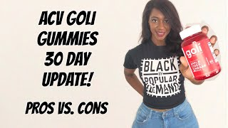 GOLI GUMMIES REVIEW - 30 DAY UPDATE   apple cider vinegar gummies for weight loss: do they work??