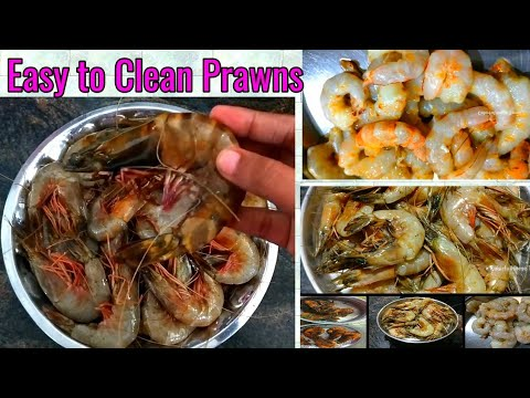 How To Clean Prawns in Tamil || இறால் சுத்தம் செய்வது எப்படி? || Easy way to clean Prawns