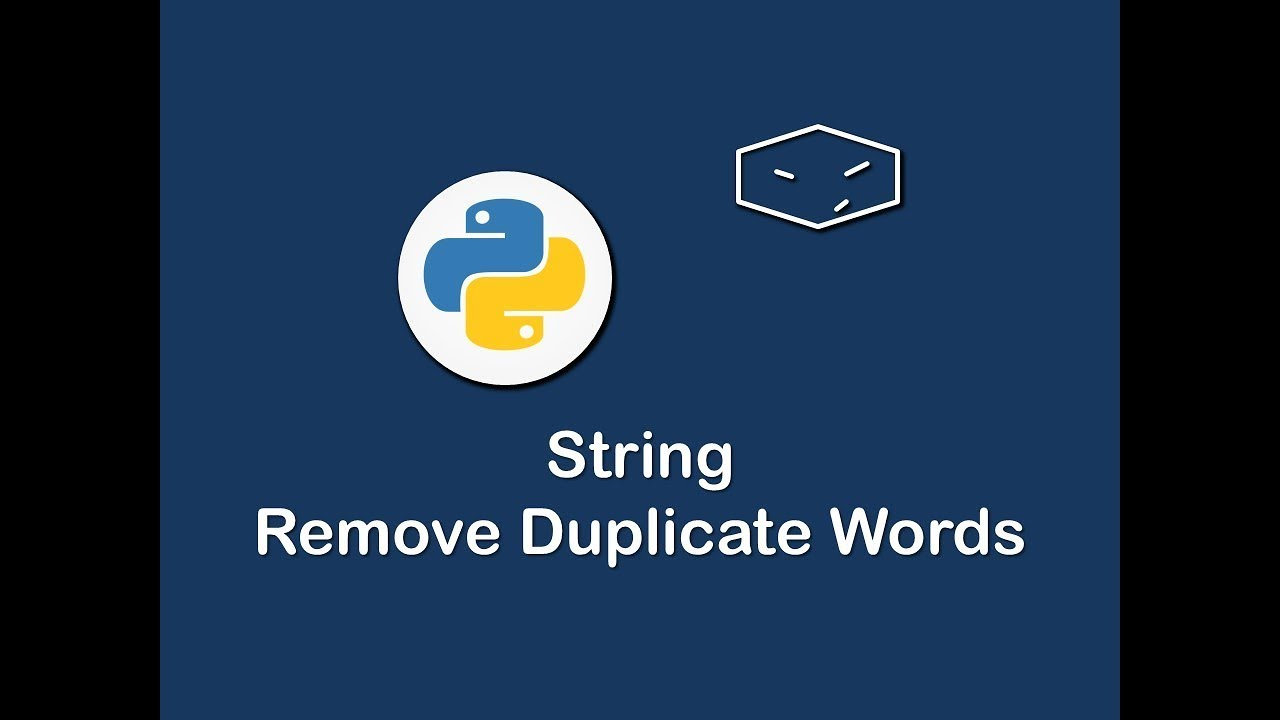 string remove duplicate words in python