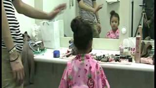 子どもの浴衣スタイルにぴったりのヘア【主婦の友社】kids hair arrange thumbnail
