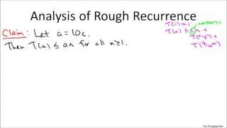Deterministic Selection - Analysis - 2   Algorithm