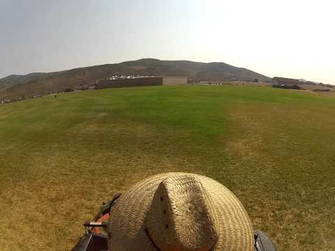mowing grass with a triple hovering deck Jacobson AR3 GOPRO (part 1)