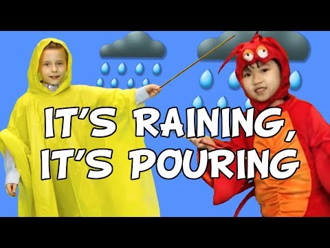 It's Raining It's Pouring | Nursery Rhyme | Weather | Educational | Family Friendly Songs