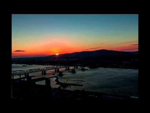 Восход солнца в Красноярске