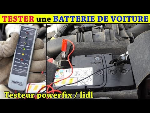 tester une batterie de voiture testeur batterie lidl powerfix et alternateur asurekazani