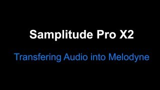Samplitude Pro X2 : Transfering Audio into Melodyne