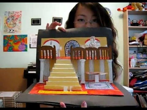 How to make a 3d pop up card or book re upload youtube for Pop up storybook template