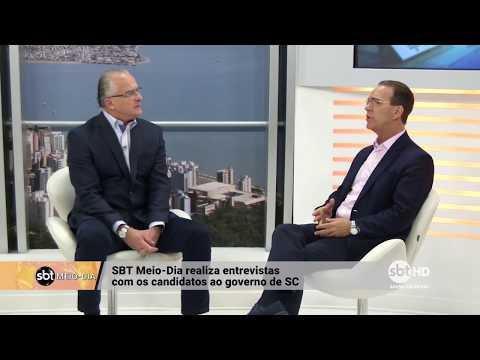Entrevista com Décio Lima, candidato pelo PT ao governo de SC | SBT Meio-Dia