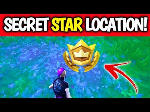 Fortnite Season 10 Week 1 Secret Battle Star Location - Season X Secret Star Location