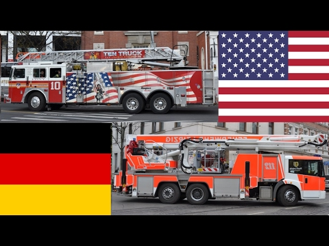FDNY rep. American Fire Trucks VS German Fire Trucks