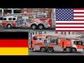 FDNY Rep. American Fire Trucks VS German Fire Trucks