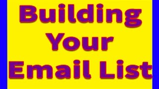 How to Build An Email List |  Building An Email List beginners guide  pagiest.com
