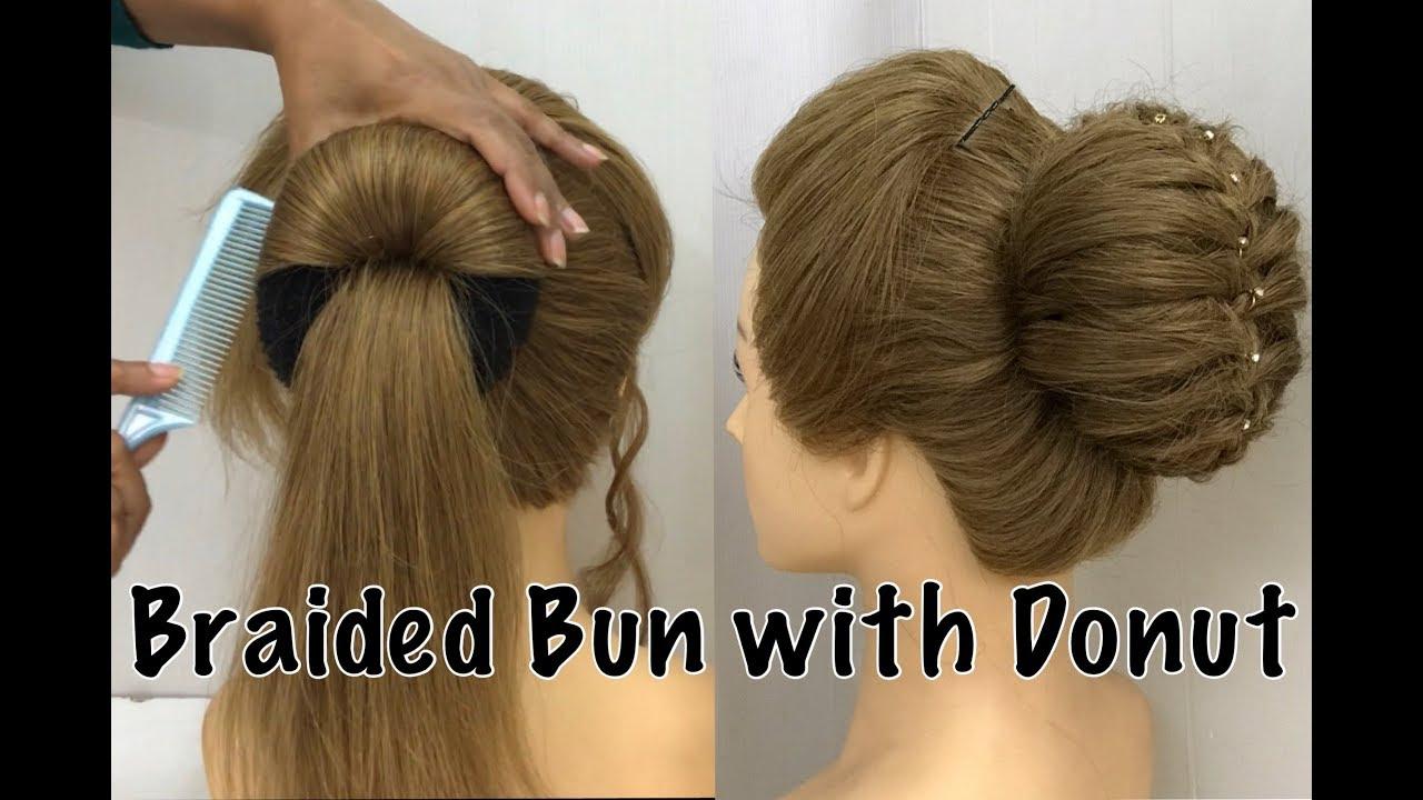 beautiful bun hairstyle from donut   easy bun hairstyles
