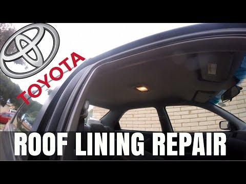 Toyota Camry Roof Lining Repair   SAGGING ROOFLINING