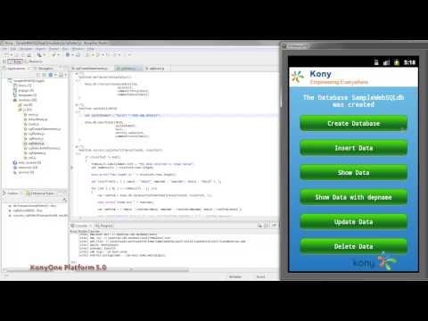 KonyOne Platform WebSQL API Intro