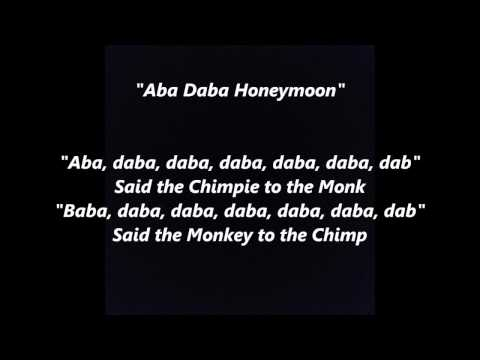 Aba Daba Honeymoon words lyrics best top popular favorite trending sing along song songs