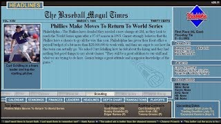 Offseason Deals - Baseball Mogul 2017 Episode 1