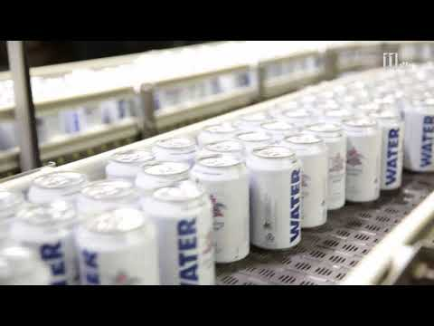 Anheuser-Busch cans emergency drinking water for Hurricane Harvey relief