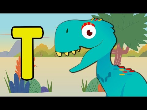 Learn Dinosaur Names For Kids | Dancing Dinosaur Alphabet | Toddler Fun Learning
