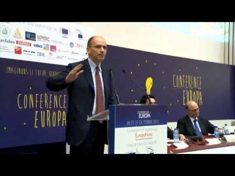 """Università La Sorbonne, il presidente Letta interviene a """"Conference EUROPA"""""""