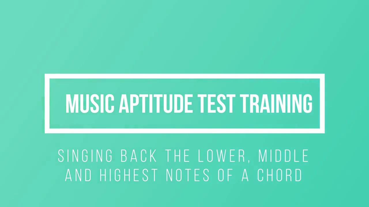 Music Aptitude Test Chord Youtube