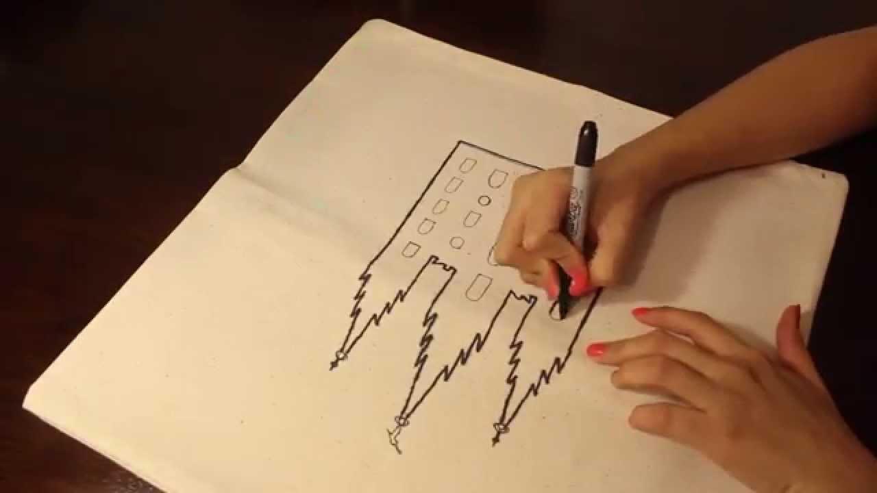 Pasar dibujo a tela/Templo/cojin - YouTube
