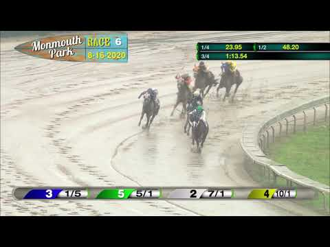 video thumbnail for MONMOUTH PARK 08-16-20 RACE 6