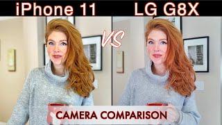 iPhone 11 VS LG G8X Camera Comparison!