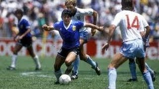 MARADONA, The goal of the century, (Compiled from different cameras)