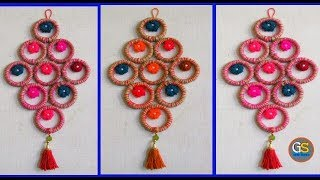 Beautiful Bangles Wall Hanging Diy || Bangles Crafts With Woolen And Jute || Full HD